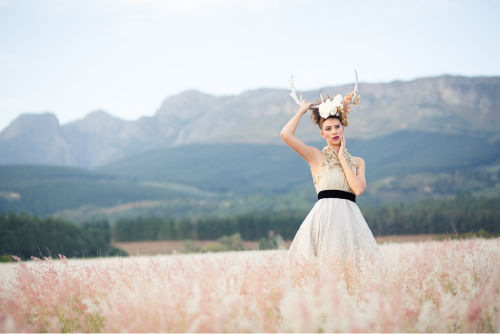 ORCHIDS & HORNS STYLED SHOOT